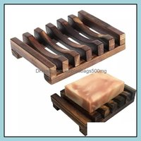 Dishes Aessories Home & Gardennatural Wooden Bamboo Dish Tray Holder Storage Soap Rack Box Container For Bath Shower Plate Bathroom Gwb9400
