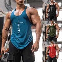 Gym Tank Top Men Fitness Clothing Mens Bodybuilding Tanks Tops Summer for Male Sleeveless Vest Shirts Plus Size