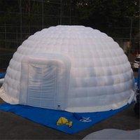 8m advertisng Oxford inflável Igloo Dome Tent Shelter Abrigo com cobertura de porta zíper Edifício de estrutura de ar para evento pode ser personalizado