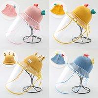 Caps & Hats Infant Baby Hat Anti-droplet Protective Cap Children's Warm Detachable Face Mask Isolation Born Girl Boy