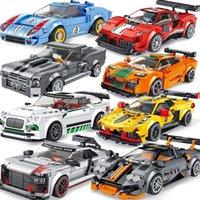 Technic City Racing Car Racer Building Blocks Speed Champion Sports Car Creator Moc Brick Kits Educational Toys For Children Q0123