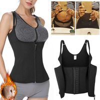 Women's Shapers Corset Top Underbust Zipper Vest Waistband Extra Control Supporting And Slimming Waist Trainer Black Skims