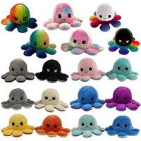 2021 MOOD OCTOPUS DOLUCIÓN DOBLE SIDAS FICIDO TOYS PULPO MOOD OCTOPUS Pulpo de pulpo Juguetes para niños Pluszak Toy Soft Toy Cosplay Juguetes