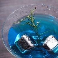 304 aço inoxidável cubo de gelo reutilizável pedras de refrigeração para o vinho de uísque manter sua bebida metal uísque de gelo vermelho refrigeração t2i51764