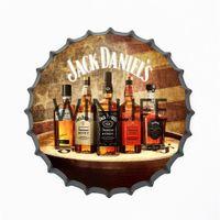 Vintage, lata, postercustomize, cerveja, vinho, tipo, estanho, sinal, pendurado, cerveja, garrafa, boné