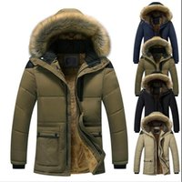 New Winter Men 'S Hooded Cotton Padded Coat Thickened Large Coat Windproof Parkas Men Solid Parkas Casual Fashion Jacket