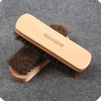 100٪ حقيقية horsehair شعاعات الجلود سيارة التفصيل تلميع التلميع فرشاة الصلبة تنظيف الخشب غسل الإسفنج