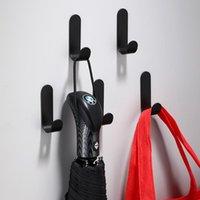 Robe Hooks Black Matowel Hook Bathroom Wall Kitchen Bag Hanger For Towel Clotheshanger Organizer Bath Accessories