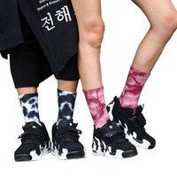 Longue chaussettes Skateboard de skateboard colorant coloré de teinture de cravate colorée.