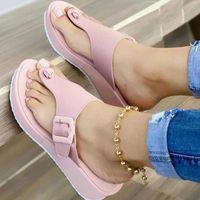 Sandals Summer Women Shoes Platform Wedges Ladies Open Toe Casual For Slip On Female Flip Flops Woman Beach Slides