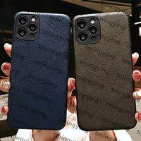 أعلى حقائب جلدية مصمم الحالات الهاتف لفون 13 برو ماكس 12 ميني 11 xs XR X 8 7 زائد الأزياء طباعة الغلاف الخلفي الفاخرة المحمول قذيفة حالة حماية التغطية الكاملة