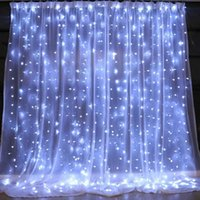 Strings 2x2 3x2 3x3m LED Curtain String Lamps Christmas Fairy Garland Home Decorative For Wedding Party Garden Decoration