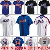 12 Francisco Lindor Mets Jerseys Custom 20 Pete Alonso 48 Jacob Degrom Baseball 18 Darryl Strawberry Mike Piazza Conforto Gooden Hernandez