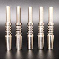 Titanium Dab Prego 10mm 14mm 18mm Tubulação de vidro Dica Dabber Jossa Junta Inverted Hookah Unhas Comprimento 40mm para Micro NC Kit