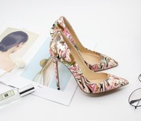 Dress Shoes Sexy Pointed Pumps Fashion Graffiti High Heels Office Wedding Dating Women Customized Large Size