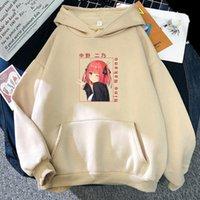 Herren Hoodies Sweatshirts Anime The Quintesential Quintuplets Nino Nakano Print Hoodie Japanischer Stil Streetwear Harajuku Graphic Sweatschwanz