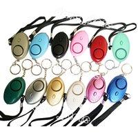 130db Egg Shape Self Defense Alarm Keychain Pendant Personalize Flashlight Personal Safty Key Chain Charm Car Keyring