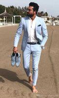 TPSAADE Moda Damat Smokin Mükemmel Çentik Yaka Slim Fit Groomsmen Blazer Erkekler Resmi Suit Parti Balo Takım Elbise (Ceket + Pantolon + Kravat) X0909