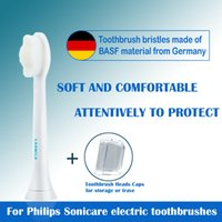 رؤساء استبدال فرشاة الأسنان متوافقة مع Philips Sonicare صحية فرشاة أسنان كهربائية مقابض 6-Pack Diamond White / Black
