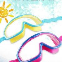 ライフベストブイプロフェッショナル安全子供防曇ゴーグル防水水泳メガネ子供ベビースイム眼鏡ビッグフレーム