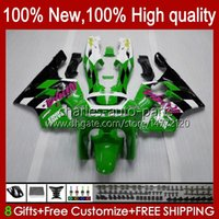 Corpo per Kawasaki Ninja ZX-6R ZX600C ZX 6R 636 600CC 600 cc 94-97 Body 50HC.8 Green Black Stock ZX-636 ZX600 ZX 6 R ZX636 1994 1995 1996 1997 ZX6R 94 95 96 97 Kit carenatura