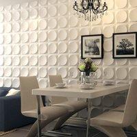 Art3D 50x50cm Pannelli White White Wall Modern 3D Wallpaper Decor, Moon Superficie Design Autoadesivo insonorizzato per soggiorno Camera da letto (confezione da 12 piastrelle)