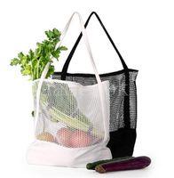 Borse domestiche di stoccaggio sacchetti riutilizzabili shopping sacchetto di frutta verdure drogheria shopper housekeeping canvas poliestere maglia tote rrd7672