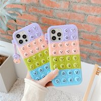 Face Doug Soft Silicone Pressure Reducing Cases Shockproof Cell Phone Protective Cover Case for Apple iPhone 11 12 Pro Max XS X XR 7 8 Plus