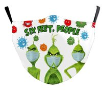 3d Us Stock Print Grinch Stole Christmas Black Cotton Cosplay Face Masks Washable Reusable Dust Proof Adults Fashion Face Mask Fy9275