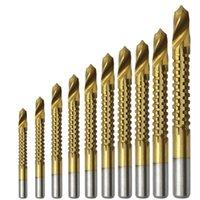 Profesjonalne wiertła 10 sztuk Zestaw pili mocy 4241 Stalowa stalowa obróbka drewna Drewno Twist Bit 3mm 4mm / 5/6 / 6,5 / 7/8/9 / 10 / 13mm