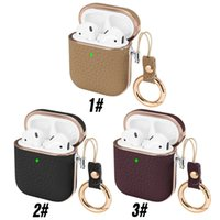 Genuine Leather Headphone Case For Airpods Pro 3 Air Pods 1 2 Cases Luxury Earbud Earphone Bags Cover