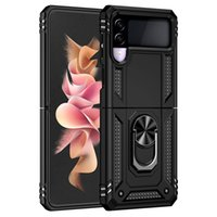 Wholesale Price Full Cover Rugged Mobile Phone Cases with Ring Bracket for Samsung Galaxy Z Flip 3 Fold3