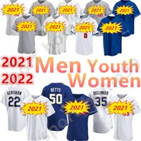 2021 맞춤형 50 마 놉 베트 35 Cody Bellinger Jersey 10 Justin Turner 13 Max Muncy 33 Dodger Clayton 남성 여성 키즈 청소년 야구 유니폼