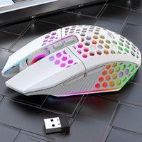 Mice Ergonomic Design RGB 2.4G Wireless Gaming Mouse Lighting Charging With Adjustable DPI For Desktop Laptop