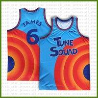 2021 Space de cinéma Jaman Tune Squad Basketball Jersey Blue Lebron 6 James 23 MJ 1 Bugs 22 Bill Murray 10 Lola 2 D.Duck! Taz 1/3 Tweety Ivory Top