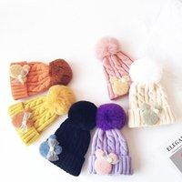크리스마스 Pom 공 모자 아이 캔디 소녀 소년 겨울 베이비 비니 트위스트 니트 모자 따뜻한 니트 어린이 모자 모자