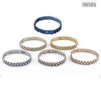 Braceletes de designers masculinos com aço inoxidável de alta qualidade cair bracelete luxo bracciali para mulheres