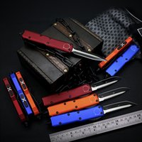 X85 Outdoor Tactical Automatic Knife CNC D2 100% Blade Anodizzazione 6061-T6 Aviazione in lega di alluminio Maniglia in lega di sopravvivenza Coltelli da tasca da cucina Cucina taglierina