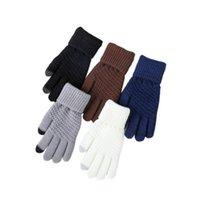 خمسة أصابع قفازات الرجال آلة الحرارة سميكة الدافئة الشتاء 2.3 TOG مزدوجة معزول الحرارية