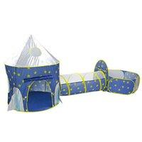 Portatile per bambini all'aperto Gioca a palla Tende 3 in 1 Beach Playing Games House Sun Shelter Garden Camping Tenda per bambini Ragazzi Ragazze e rifugi
