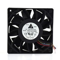 Refriginaciones de ventiladores TFC1212DE para DELTA 120MM DC 12V 5200RPM 252CFM MINERO Caso potente del servidor Ventilador de enfriamiento axial