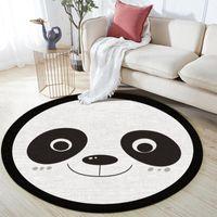 Carpets Non-Slip Children Safety Carpet Baby Hand Print Play Mat Cute Panda Pattern Rug For Living Room
