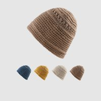 LDSLYJR 2021 Autumn and winter Acrylic Solid Color Thicken knitted hat warm hat Skullies cap beanie hat for men and Women 151