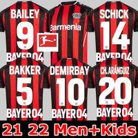 2021 2022 Jerseys de fútbol de Leverkusen Bayer 04 Havertz Palacios Bailey Football Shirt Set Demirbay Volland Tah 22 22 Hombres Kit Kit