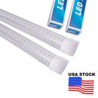 V-Shaped 2ft 3ft 4ft 5ft 6ft 8ft Cooler Door Led Tubes T8 Integrated Shop Lights Double Sides 85-265V Stock In US 25 Pack USALIGHT