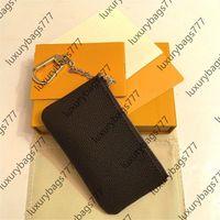Carteiras de bolsas chaves luxurys designers França estilo mulheres mulheres senhora couro moeda bolsa cartão de crédito m62650