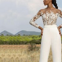 Women Tracksuits Quality 2 Piece Set Tops And Pants Fashion Elegant Embroidered Mesh Tulle T shirts Flare Long Trousers White