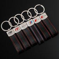 New car leather keychain key chain pendant    M sports standard Audi Sline RS Volkswagen R Mercedes-Benz AMG