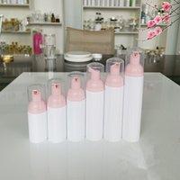 Bomba de espuma de plástico 30/50 / 60 ml Botella de cosmética recargable pestañas Limpiador de jabón Dispensador de lustre con rosa