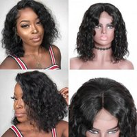 Lace Wigs Deegirl 100% Human Hair 4x4 Water Wave Short Bob Closure For Black Women Pre Plucked Brazilian Frontal